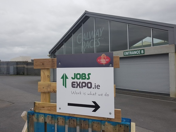 Entrance sign to the Jobs Expo Galway