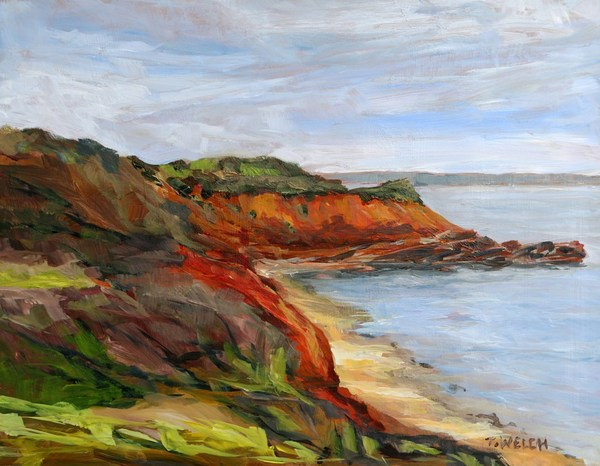 Wind Swept Murray Head PEI study  11 x 14 inch acrylic sketch on gessobord