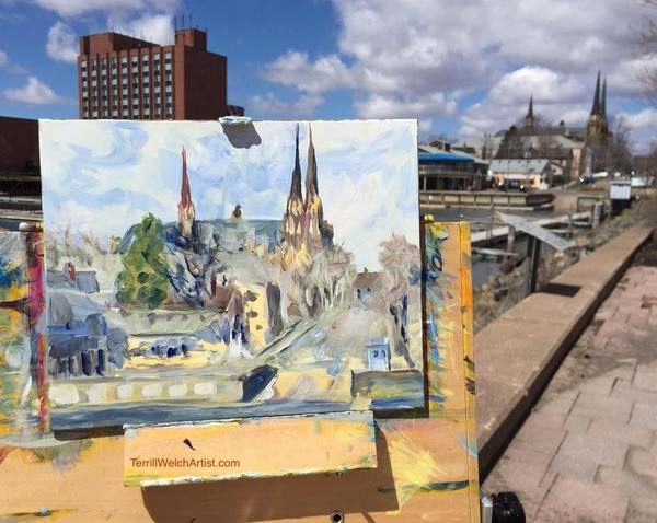 Terrill Welch plein air painting Charlottetown, PEI