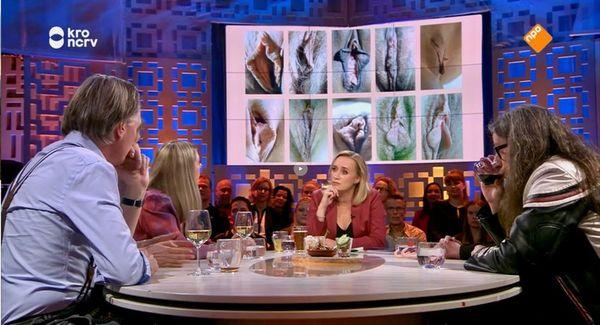 Een levensgrote collage van vulva's bij Jinek en niemand keek op of om