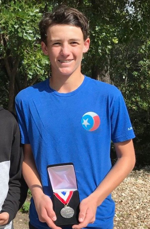 Frontier Academy's eighth grade tennis player Nico Jamison. (Photo by Frontier Academy)