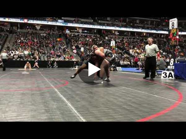 University junior Emanuel Munoz-Alcala powered his way to the 3A heavyweight finals
