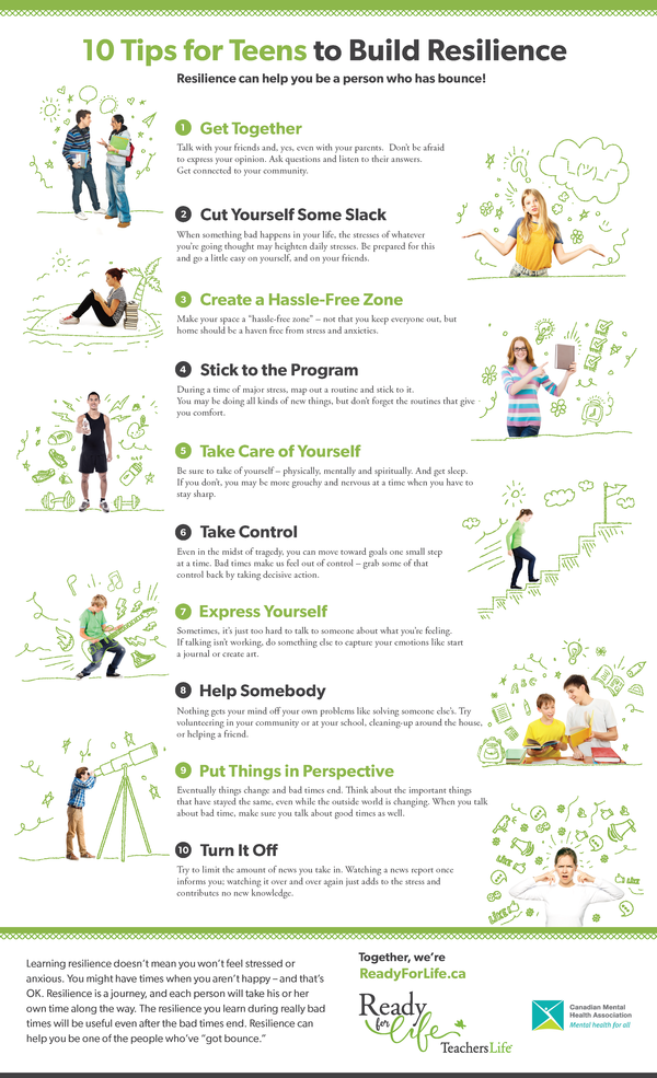 Infographic: 10 Tips for Teens to Build Resilience