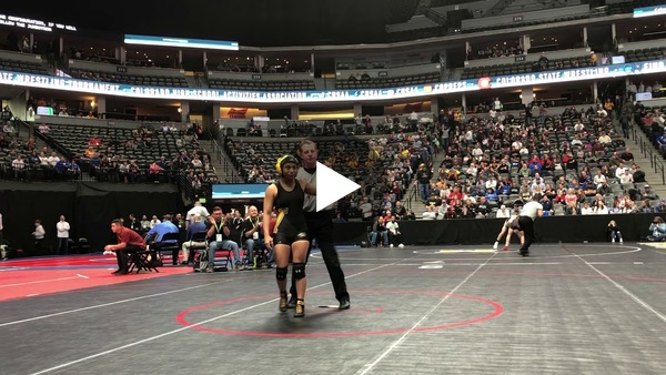 Valley's Angel Rios makes history by becoming the first girl to ever place at the boys state tournament via a forfeit from The Classical Academy's Brendan Johnston.