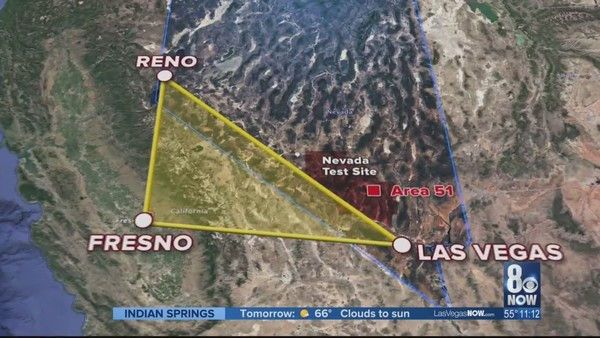 Is the 'Nevada Triangle,' which connects to Fresno, linked to unexplained disappearances?