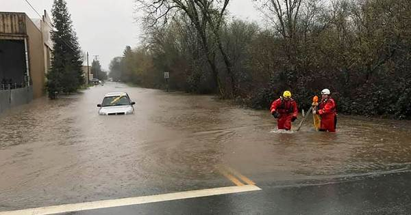 Evacuations ordered as waters rise in storm-pummeled Northern California
