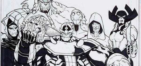 Humberto Ramos - Thanos Original Comic Art