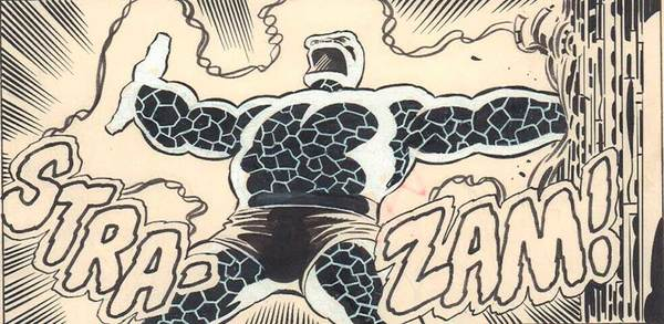 John Byrne - Fantastic Four Original Comic Art. STRA-ZAM!