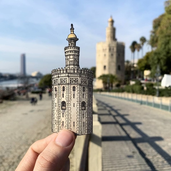 "Maxwell Tilse on Instagram: ""The Torre del Oro 🇪🇸 Seville's 13th century ""Tower of Gold"", a true emblem of the city. It was initially a prison, then a military…"""