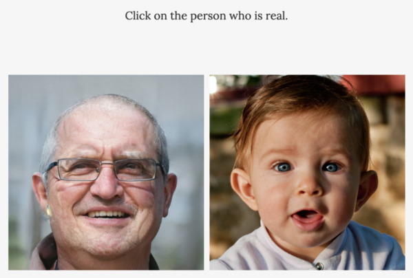 Which of these is a real person, and which is a GAN-generated fake? (Which Face Is Real)