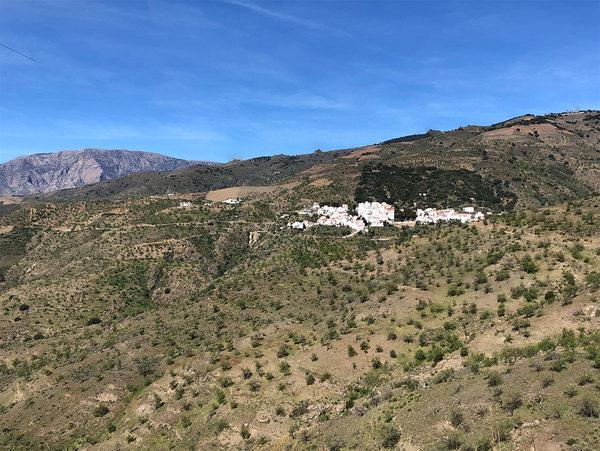 Het Spaanse dorp Polopos, waar we zaten.