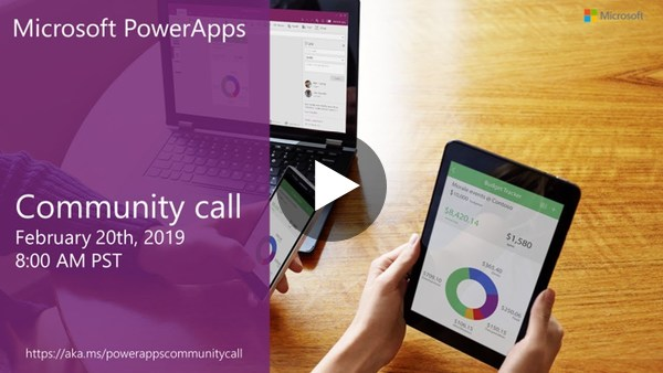 PowerApps community call-February 2019