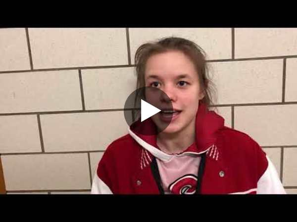 Eaton's senior Michaela Hill talks about trusting her teammates, her defensive pressure and what it meant to win her last home game.