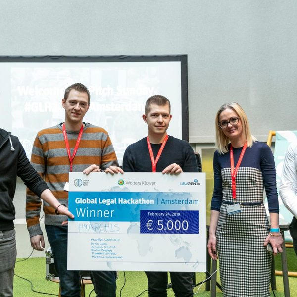 Team Hyarchis wins Amsterdam Global Legal Hackathon 2019   Dutch Legal Tech