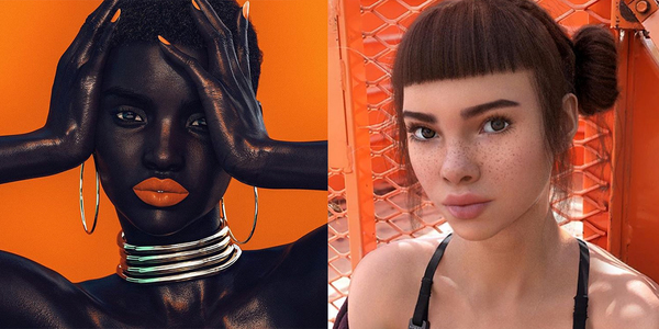 Shudu (left) and Lil Miquela (right) (Credit: Adweek)