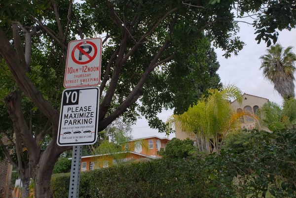 An Echo Park Man Is Taking a Stand Against People Who Are Bad at Street Parking