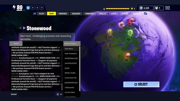 Fortnite Chat Screenshot