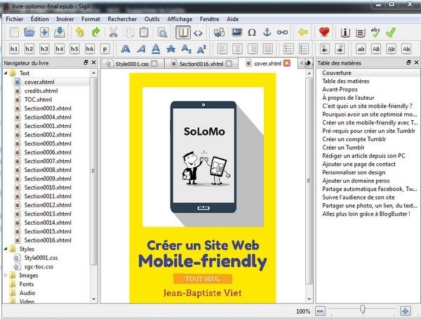 Sigil : créer un ebook EPUB pour Kindle, Kobo, iTunes