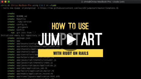 Jumpstart Ruby on Rails Template Walkthrough