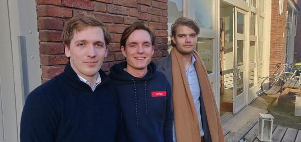 V.l.n.r. Mathijs, Marcus & Bas