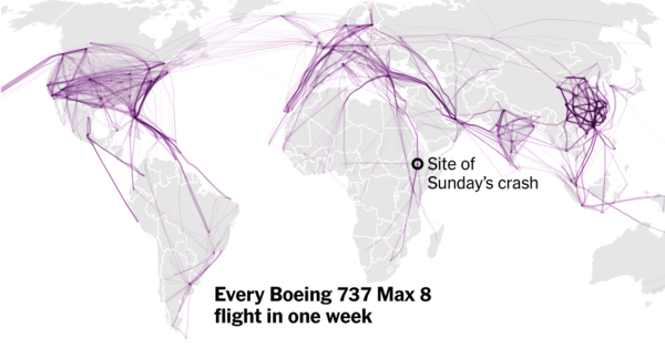 Boeing 737 Max 8 Jets Are Grounded Nearly Everywhere