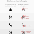 Solid Vs. Outline Icons