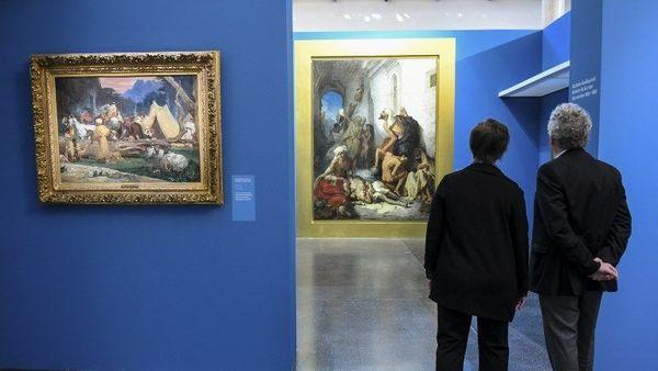 Le peintre Guillaumet, témoin de la colonisation de l'Algérie, s'expose à La Piscine - Schilder Guillaumet, getuige van kolonisatie van Algerije, stelt tentoon in La Piscine