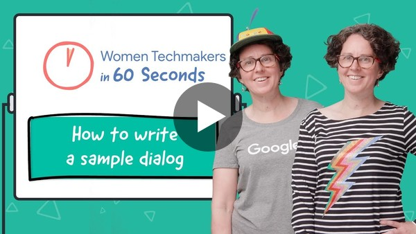 Cathy Pearl shares how to write a sample dialog in 60 seconds