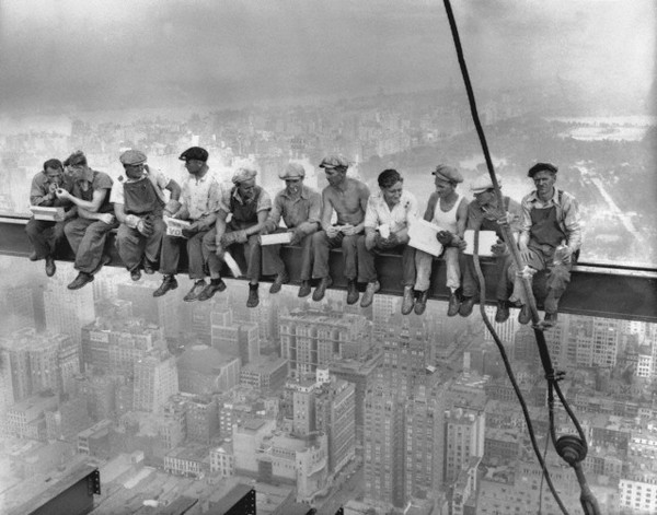 """Lunch Atop A Skyscraper"". A classic. NYC, 1932."
