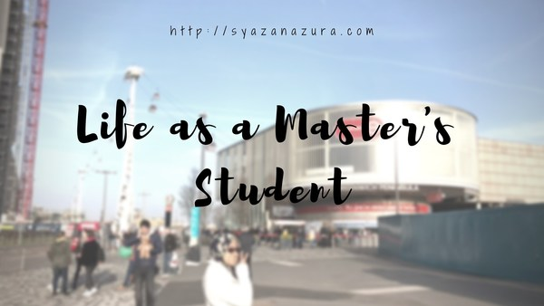 Life as a Master's Student (So Far).