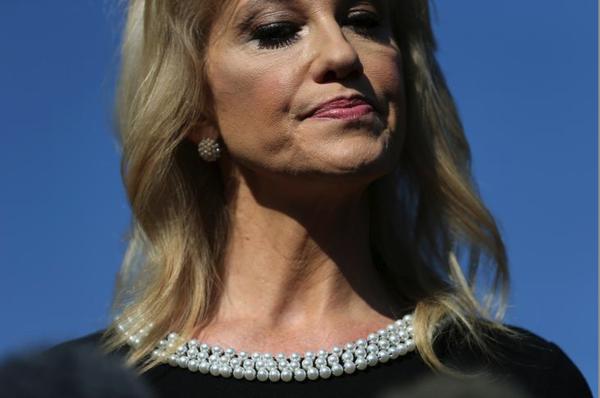 Kellyanne Conway, adviseur van president Trump (foto: Reuters)