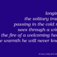 longing …