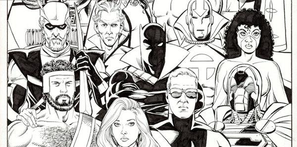 George Perez - Avengers/JLA Original Comic Art