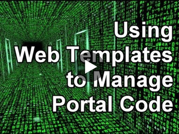 Dynamics 365 2MT Episode 62: Use Web Templates to manage Portal Code