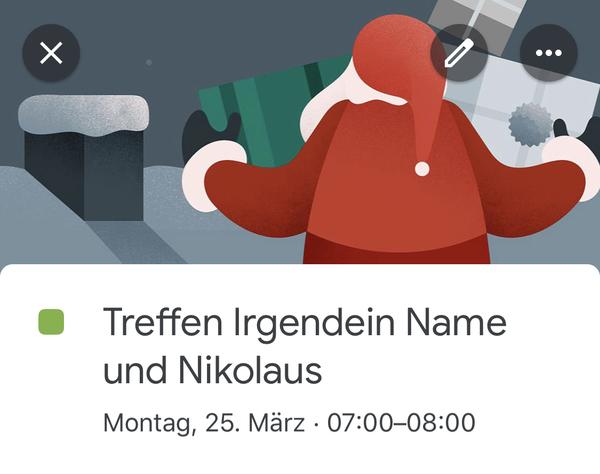 Google-Kalender-Einträge zwischen irgendwem und mir