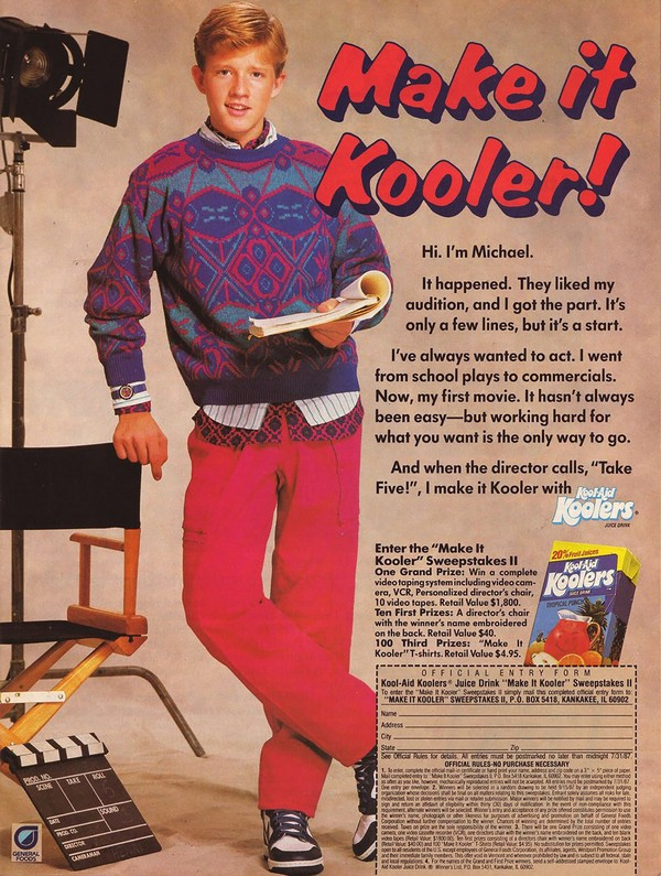 "This ad for ""Kool-Aid Koolers"" might as well be an ad for KOOL cigarettes."