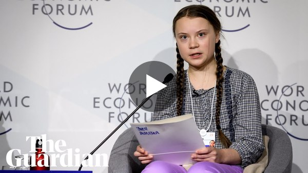 'I want you to panic': 16-year-old issues climate warning at Davos