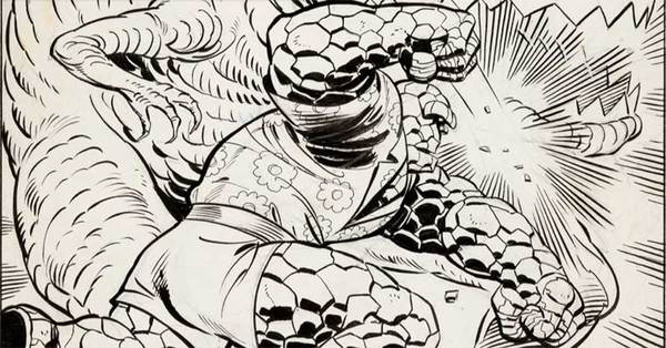 Ron Wilson - The Thing Splash Original Comic Art