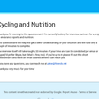 Cycling and Nutrition Survey