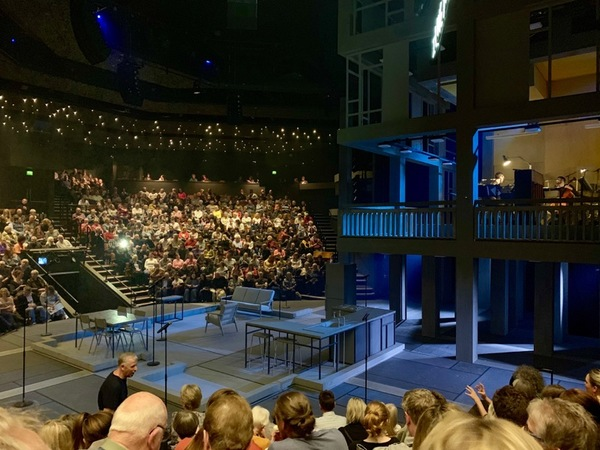My view for Standing at the Sky's Edge at the Crucible Theatre
