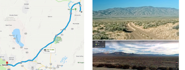 Located 149 miles from Reno - 2hr 11 min.