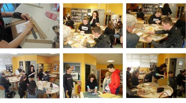 Atelier cartonnage en 3PP : création d'un cadre en carton