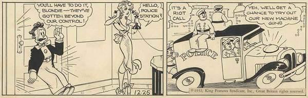 Chic Young - Blondie Original Comic Art