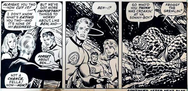John Buscema - Fantastic Four Original Comic Art