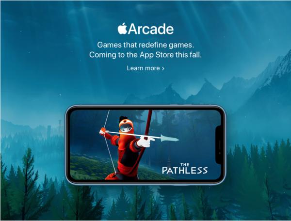 Nová herní platforma Apple Arcade