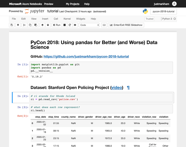 Azure Notebooks is a nice cloud solution built on top of Jupyter.