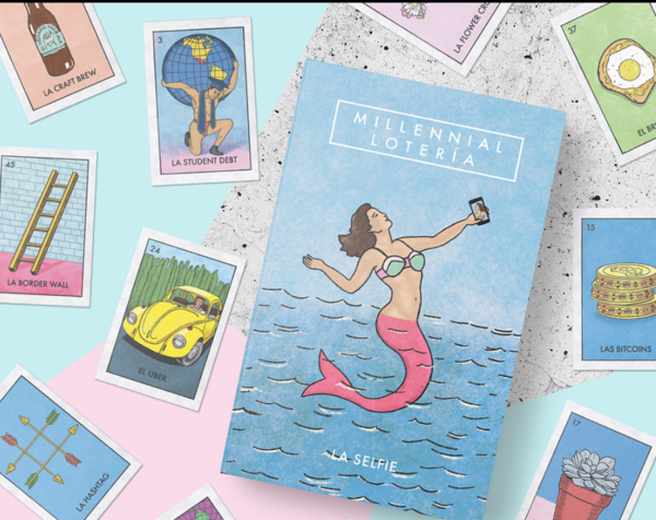 Millennial Lotería is now sold on Amazon and at Urban Outfitters