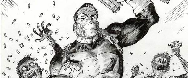 Tony Moore - Punisher Vs. Zombies Original Comic Art