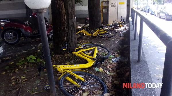 Bike Sharing: il Comune di Milano revoca l'autorizzazione alle bici gialle di Ofo