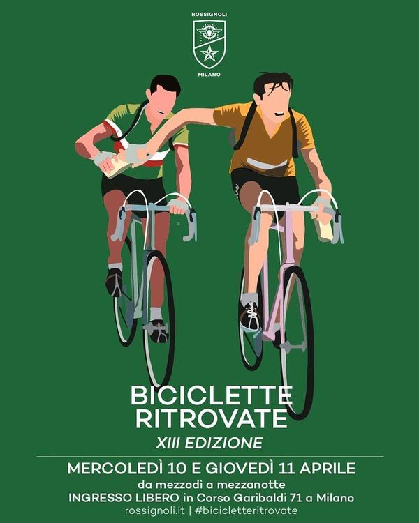 Glicine + Fuorisalone + Rossignoli = Biciclette Ritrovate